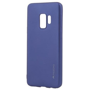 Husa Silicon Meleovo Samsung Galaxy S9 G960 Soft Slim Blue aspect mat mlvssg960bl