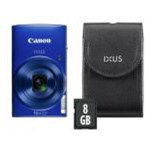 Aparat Foto Digital Canon IXUS 190 Essential Kit, 20 MP, Filmare HD, Zoom optic 10x (Albastru)