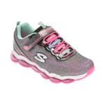 Pantofi sport SKECHERS multicolori, GLIMMER LIGHTS, din material textil si piele ecologica