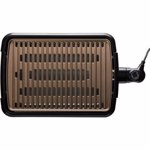 Gratar electric fara fum George Foreman Smokeless 25850-56, 1606 W, Invelis Titan, Temperatura variabila, Negru/Bej