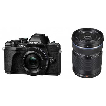 Aparat foto Mirrorless Olympus E-M10 Mark III Pancake Double Zoom 16.1MP Negru + Obiectiv EZ-M 40-150mm F4.0-5.6 R Negru v207074be000