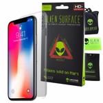 FOLIE ALIEN SURFACE HD IPHONE X SPATE LATERALE + ALIEN FIBER CADOU 0fasixback