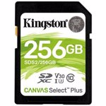 Card de memorie Kingston SDXC Canvas Select Plus, 256GB, Class 10, UHS-I U3 V30