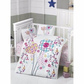 Set lenjerie de pat pentru copii Patik, din bumbac ranforce 100 procente, 100 x 150 cm, 170PTK2016