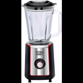Blender Star-Light BW-500BR, 500W, 1.5l, Vas de sticla, Functie Pulse, Negru/Rosu