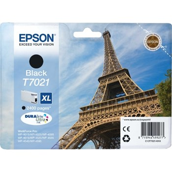 Epson Toner inkjet T7021 XL Negru, 2400pag