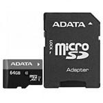Card memorie ADATA Micro SDXC Premier 64GB UHS-I Clasa 10 + Adaptor SD