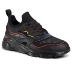 Sneakers KARL LAGERFELD - KL51620 Blk Lthr/Textile W/Multi