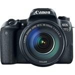 Canon Aparat foto DSLR EOS 77D, 24.2MP, Wi-Fi, Negru + Obiectiv EF-S 18-135 f/3.5-5.6 IS