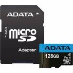 Card ADATA MicroSDXC Premier, 128GB, Clasa 10, V10, A1 + Adaptor SD