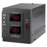 AVR nJoy Akin 2000, 2000VA/1600W, cu releu, LCD Display, functie de intarziere la pornire, functie de selectie a tensiunii, 2 prize Schuko