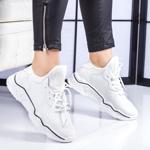 Pantofi dama sport albi Sigulia -rl