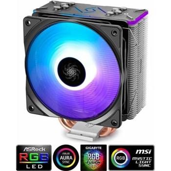 """Cooler Cpu Deepcool, Universal., Soc Lga20xx/1366/115x &Amp; Am4/Amx/Fmx, Al+Cu, 4x Heatpipe, 150w, Rgb Led """"Gammaxx Gt"""""""