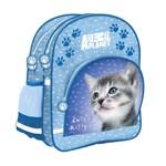 Ghiozdan Cutest Kitty pentru scolari, 2 compartimente, albastru, Starpak
