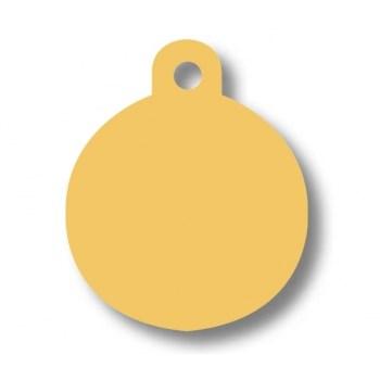 Medalion Imarc Aluminiu Rotund, Auriu, Masura L - Gravare Gratuita