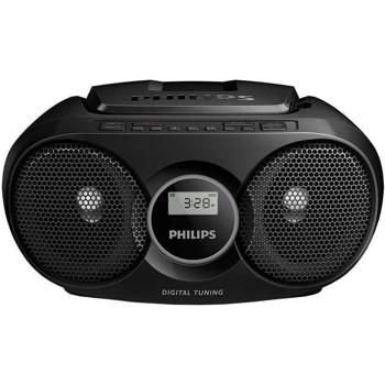 Microsistem audio Philips AZ215B/12, CD-R,CD-RW, FM stereo, Negru