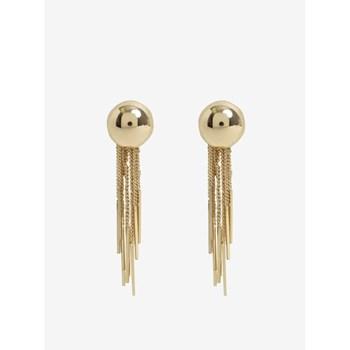 Cercei lungi aurii cu lanturi decorative - Pieces Victorine