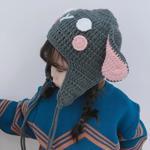 Caciula simpatica pentru copii, din tricot, model calduros ?i modern, cu urechi de iepura?, pentru fetite pana la ?ase ani
