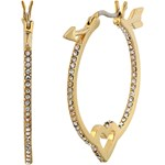 Kate Spade New York Be Mine Heart and Arrow Hoops Culoarea Clear/Gold