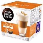 Capsule cafea NESCAFE Dolce Gusto Caramel Macchiato, 8 capsule cafea + 8 capsule lapte, 168.8g