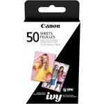 Hartie foto Canon ZINK pentru Zoemini, 5x7.6 cm, 50 bucati