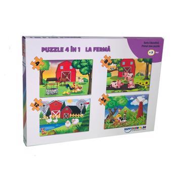 Puzzle 4 in 1 La ferma