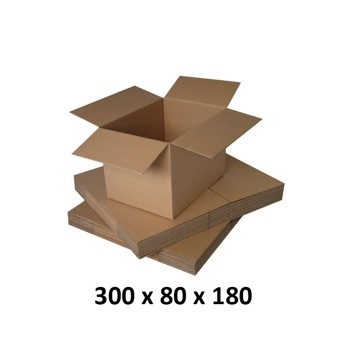 Cutie carton 300x80x180, natur, 5 straturi CO5, 690 g/mp