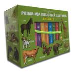 Carti pentru copii / Set cutie cu 8 carticele bebe Editura Litera, Prima mea biblioteca ilustrata, Animale