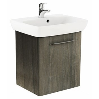 Set lavoar + mobilier Kolo, Nova Pro, 60 cm, gri cenusiu
