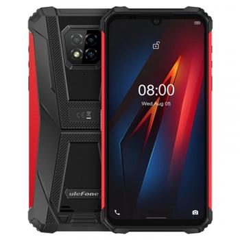 Telefon mobil Ulefone Armor 8, 4G, IPS 6.1 , 4GB RAM, 64GB ROM, Android 10, Helio P60, Camera submersibila, 5580mAh, Dual SIM, Rosu