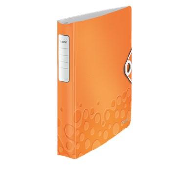Caiet mecanic, A4, 4 inele DR, inel 30mm, polyfoam, portocaliu metalizat, LEITZ Active WOW SoftClick