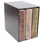 Set 3 albume foto Vintage piele ecologica 10x15 600 poze husa tip cutie decorset211