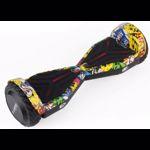 Hoverboard AirMotion H1 Yellow Graffiti 6,5 inch, Viteza max. 10 km/ora, Autonomie 12-18 km, Putere motor 2 x 200W, Samsung Li-Ion 23V, 4.3AH