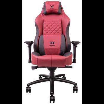 Thermaltake Scaun gaming Tt eSPORTS X Comfort piele naturala negru cu rosu