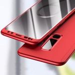 Husa Samsung Galaxy A8 2018, FullBody MyStyle Red, acoperire completa 360 grade cu folie de protectie gratis