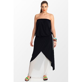 Rochie casual dama Mat Fashion negru alb