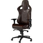 Scaun gaming Noblechairs EPIC Real Leather maro-negru