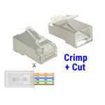 Set 20 buc mufe RJ45 cat 6 pentru fir solid STP Crimp+Cut, Delock 86454