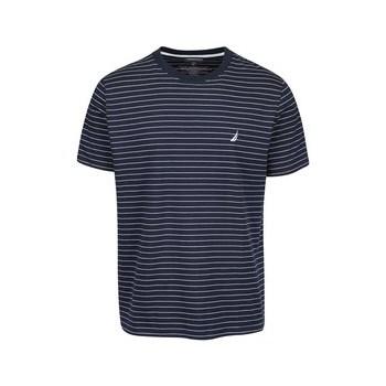 Tricou cu dungi Nautica albastru inchis