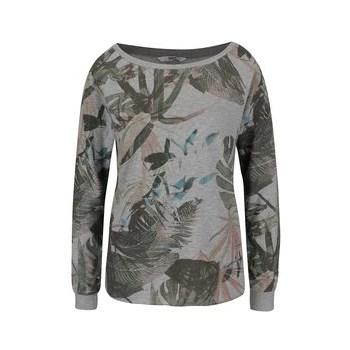 Bluza gri inchis ONLY Linea cu imprimeu