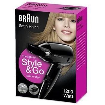Uscator de par Braun Satin Hair HD 130, 1200 W, 2 Trepte temperatura, Negru
