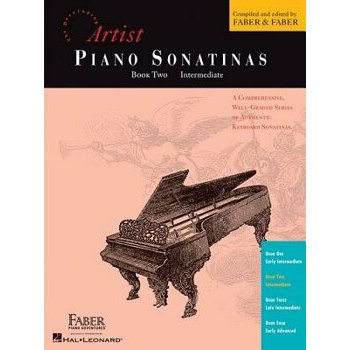 Artist Piano Sonatinas, Book Two, Intermediate, Paperback