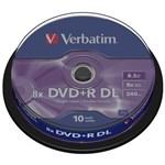 Verbatim DVD+R Dual Layer 10 bucati, 8x, 8.5GB