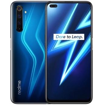 Smartphone Realme 6 Pro, Ecran 90 Hz IPS LCD cu rezolutie FHD+, Snapdragon 720G 2.3 GHz, Octa Core, 128GB, 8GB RAM, Dual SIM, 4G, 6-Camere: 64 mpx + 16 mpx + 12 mpx + 8 mpx + 8 mpx + 2 mpx, Android 10, Lighting Blue
