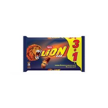 Baton de ciocolata Lion cu interior de caramel, 42 g