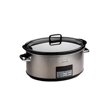 Slow cooker , 7.5L Digital, vas ceramica, capac de sticla, Inox