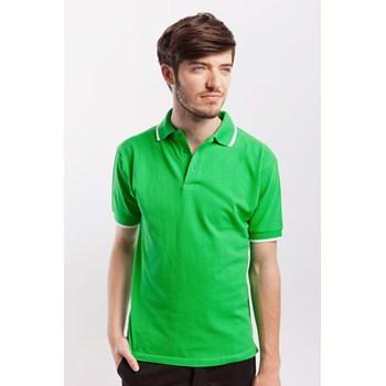 Tricou polo barbati James Nicholson verde-alb