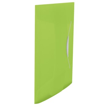 Mapa plastic ESSELTE cu elastic verde vivida es624041