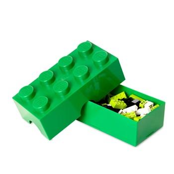 Cutie sandwich LEGO 2x4 verde inchis