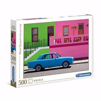 Puzzle Clementoni - Masina albastra, 500 piese